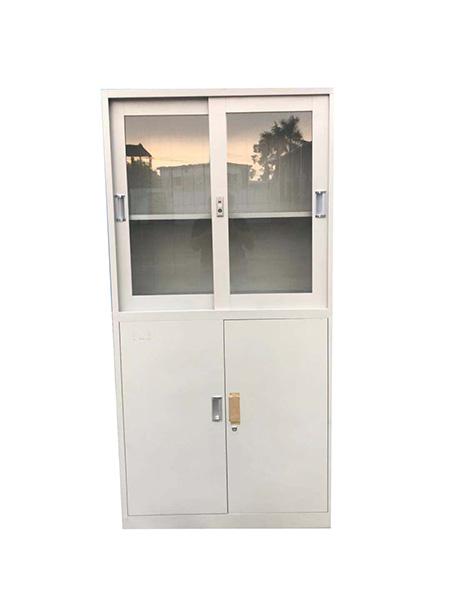 玻璃门2层文件柜