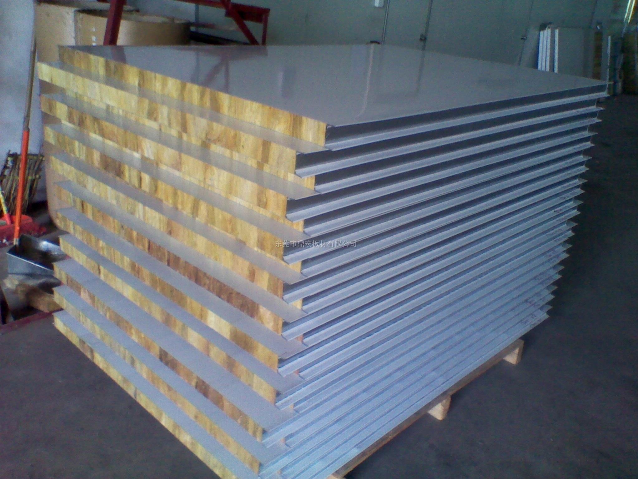 巖棉彩鋼板,彩鋼巖棉板,巖棉夾芯板,巖棉夾芯瓦,鼎宏專業生產