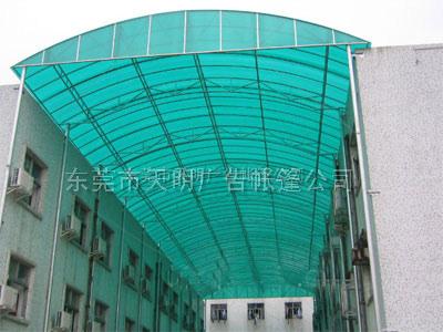 深圳陽光板遮陽篷 PC耐力板雨棚
