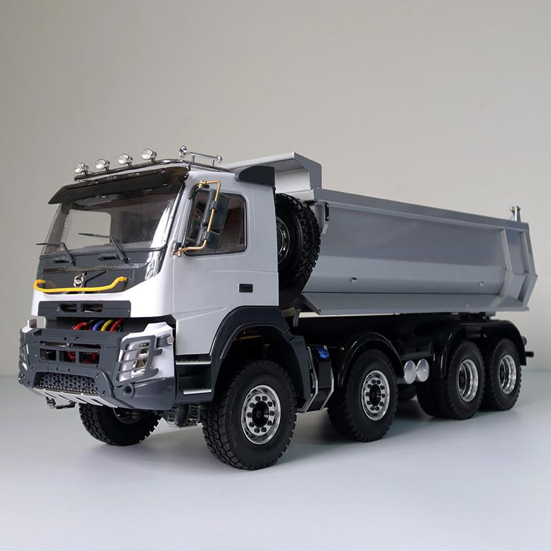 JDM-65D 8X8 1:14 液壓自卸車模型 泥頭 遙控工程車 8X8