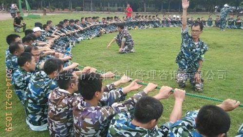 东莞增强团队凝聚力拓展:动力圈绳