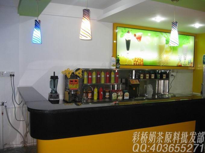 85奶茶培训吧台照片集锦|广州彩桥奶茶原料批发