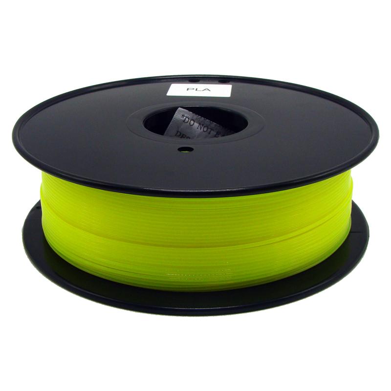 厂家直销 1.75/3mm 3DPLA荧光打印耗材 黄色