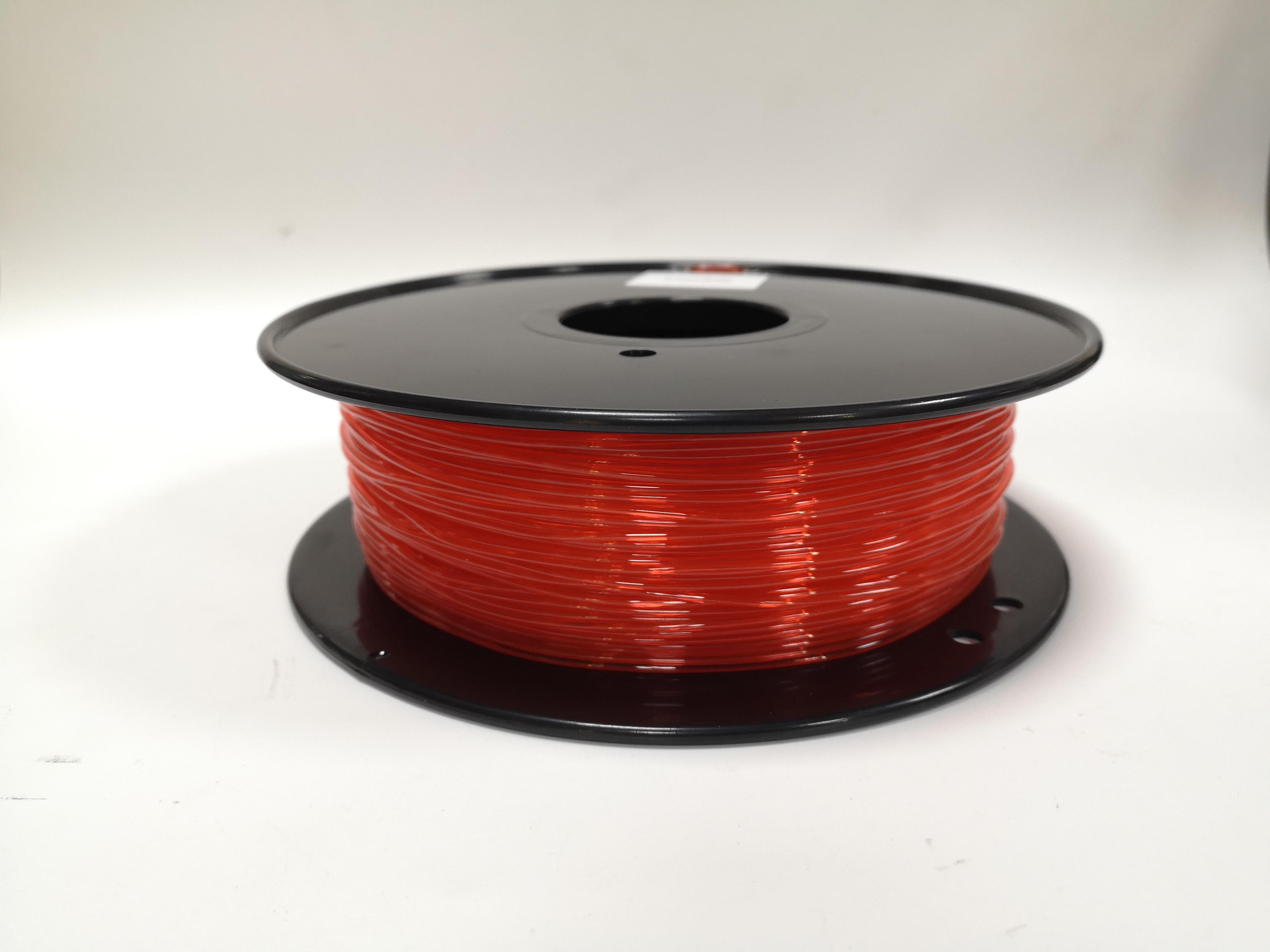 德之健 珊瑚橙色 Flexible弹性 柔性耗材 3d打印机耗材 TPU 抗老化