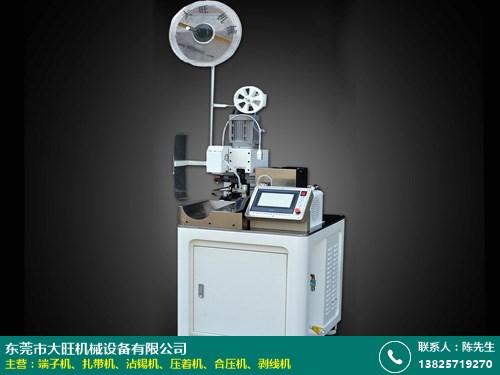 杭州全自動穿防水栓端子機 自動 單頭 全自動伺服 大旺機械