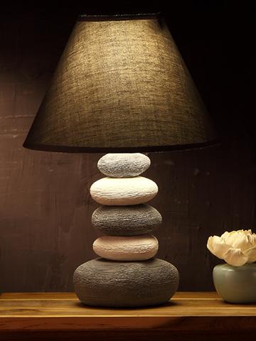 美式陶瓷台灯