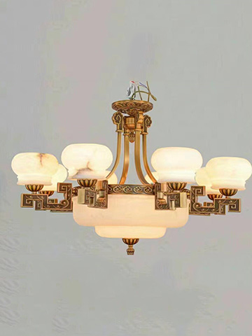餐厅灯饰美式纯铜典雅卧室书房灯具