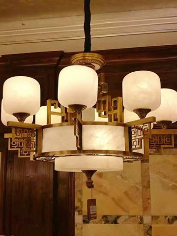 美式纯铜典雅卧室书房灯具