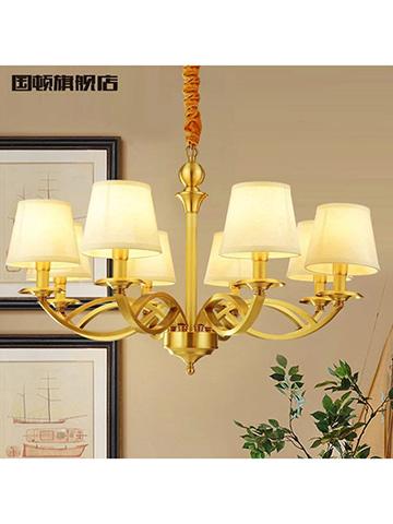 欧式全铜LED客厅灯