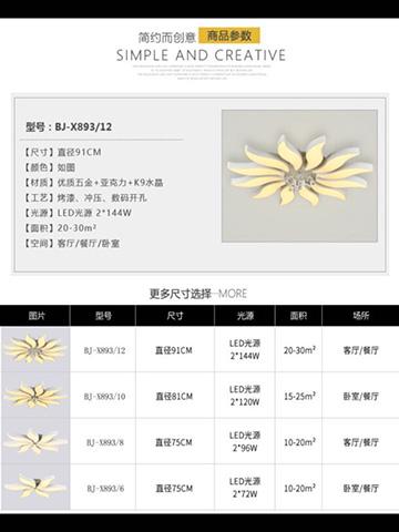 现代花瓣形灯饰