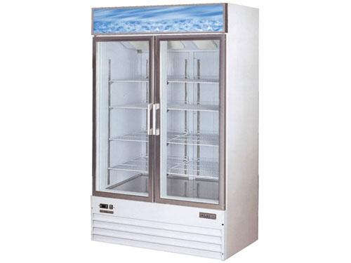 双门保鲜展示柜 立式单温开门冷风展示柜