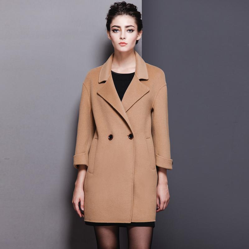 双面羊绒大衣正品新款