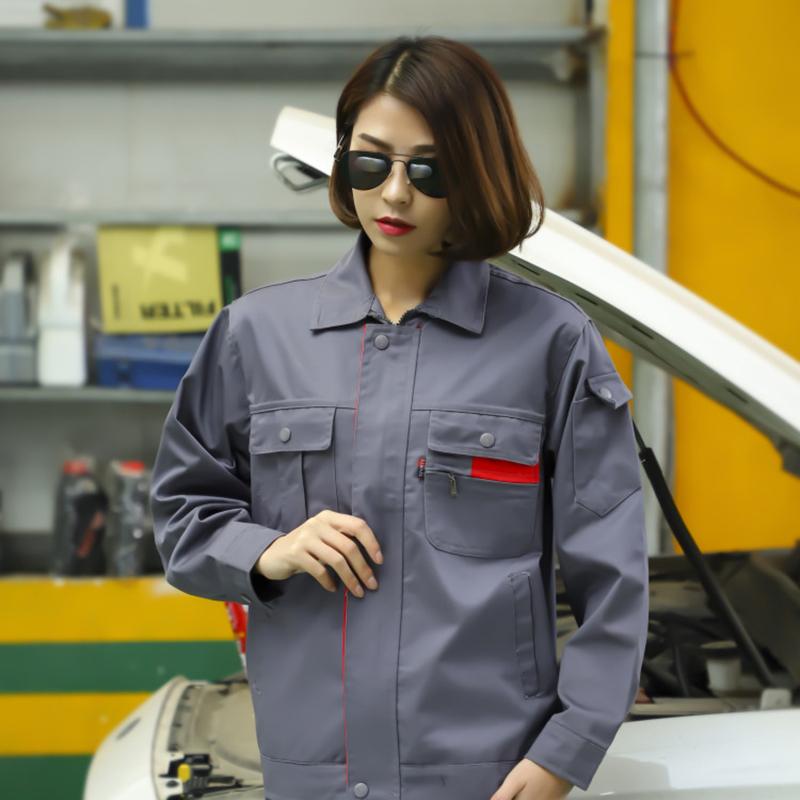 秋季工作服套裝男純棉厚款長袖電焊工勞保服工廠車間工裝全棉耐磨