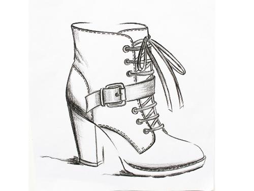 鞋樣設計培訓學校,學員作品,設計手稿