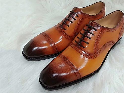 學員制作成品皮鞋