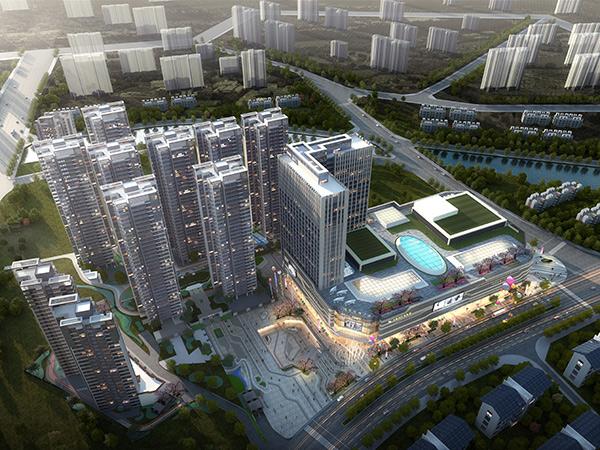 湛江万合隆广场-鸟瞰图角度