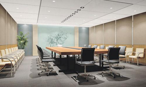 标准层30人会议室装修效果图