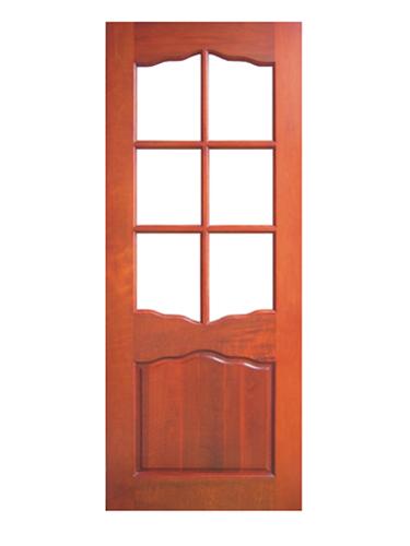 广东原木门 玻璃门 13006