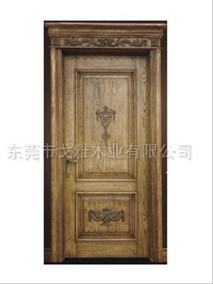 广东戈雅印象雕花欧式原木门纯实木门室内门房门38036