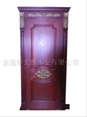 广东戈雅印象雕花欧式带门头描金原木门纯实木门2580