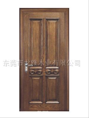 广东戈雅印象雕花欧式原木门纯实木门美式仿古木门25101