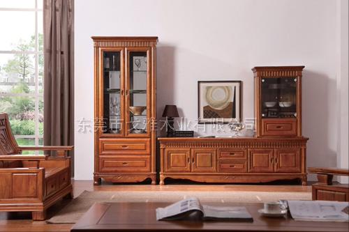 原木厅柜 纯实木酒柜