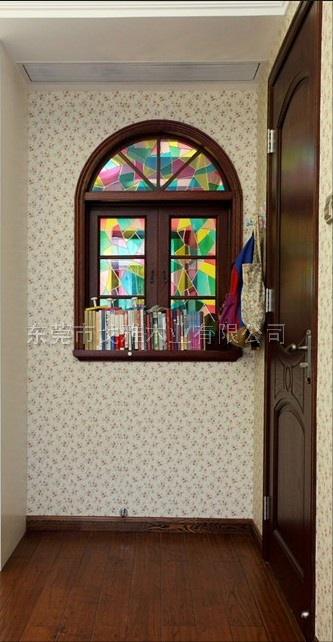 原木造型园拱窗套