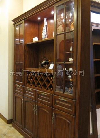 戈雅印象原木定制酒柜厅柜