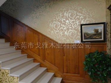 原木红橡木护墙板