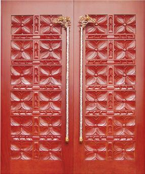 戈雅印象原木门入户门雕花大门-61207