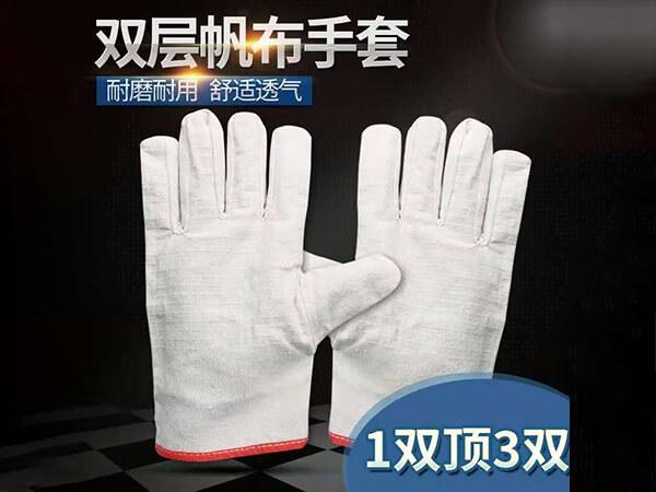 双层帆布手套