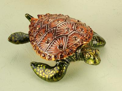 東莞金屬珠寶首飾盒 珠寶盒 動物首飾盒 動物系列海龜首飾珠寶盒 亮美工藝飾品