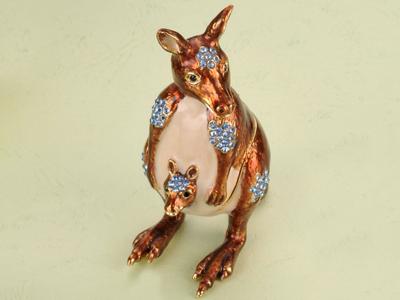 東莞金屬珠寶首飾盒 珠寶盒 動物首飾盒 動物系列袋鼠首飾珠寶盒 亮美工藝飾品