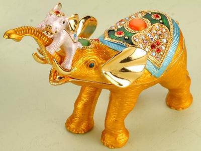 東莞金屬珠寶首飾盒 珠寶盒 動物首飾盒 動物系列大象首飾珠寶盒 亮美工藝飾品有限公司