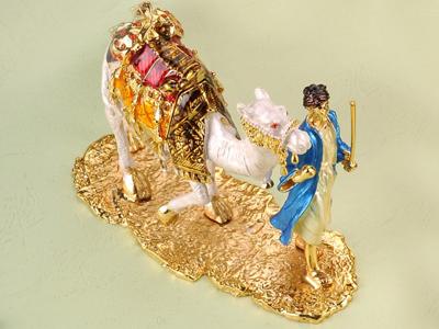東莞金屬珠寶首飾盒 珠寶盒 動物首飾盒 中東白駱駝首飾珠寶盒 亮美工藝飾品有限公司