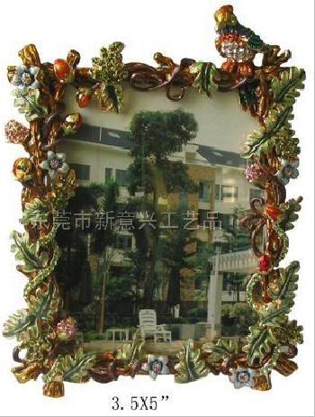 東莞金屬相框擺件 相框相架 金屬擺件 動物小鳥花卉系列相框擺件 亮美工藝飾品有限公司