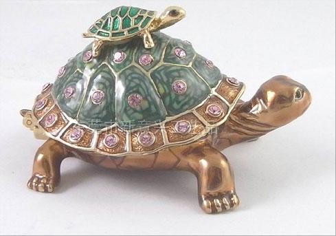 東莞金屬珠寶首飾盒 珠寶盒 動物首飾盒 海洋系列海龜首飾珠寶盒 亮美工藝飾品有限公司