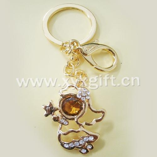 東莞金屬鑰匙扣 鑰匙扣掛件 亮美十二生肖系列處女座鑰匙扣工藝品 生產廠家
