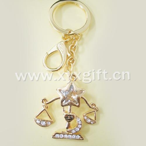 東莞金屬鑰匙扣 鑰匙扣掛件 亮美十二生肖系列鑰匙扣工藝品 生產廠家