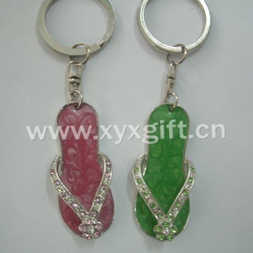 東莞金屬鑰匙扣 鑰匙扣掛件 亮美托鞋入色鑰匙扣工藝飾品