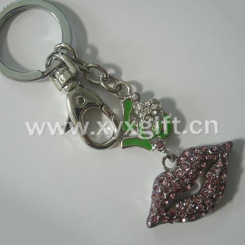東莞金屬鑰匙扣 鑰匙扣掛件 亮美嘴唇鑰匙扣工藝品