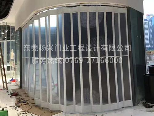 東莞落地式鋁卷玻璃門