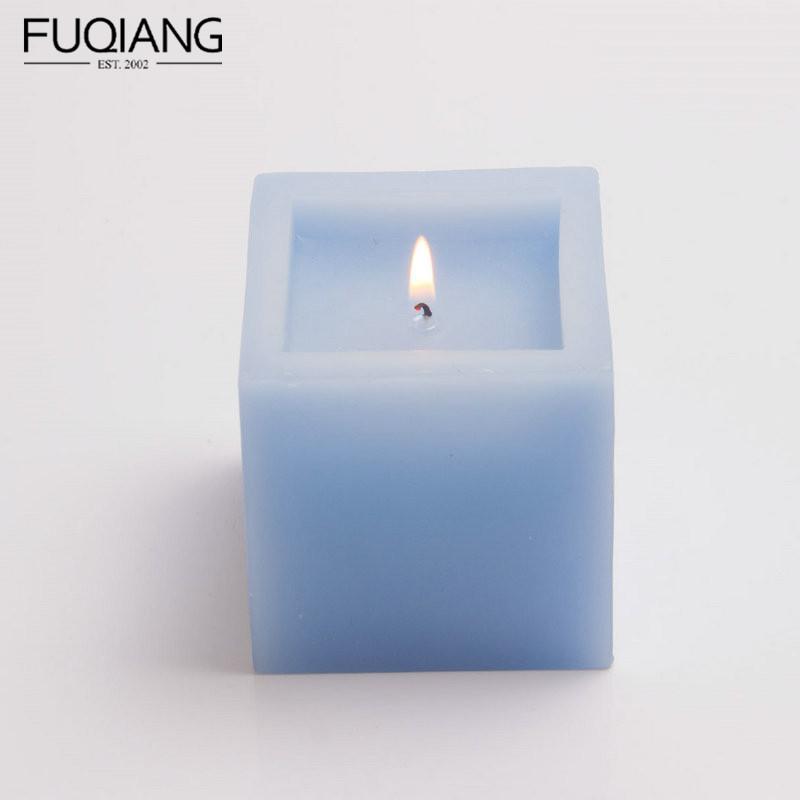 方形内凹无装饰蜡烛