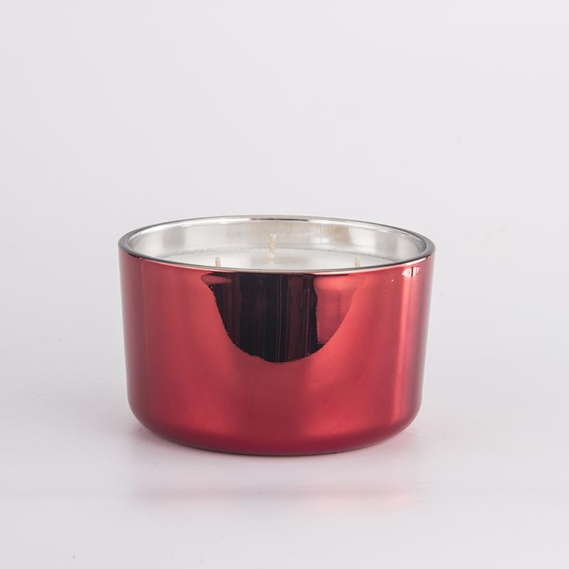 电镀红色三芯杯