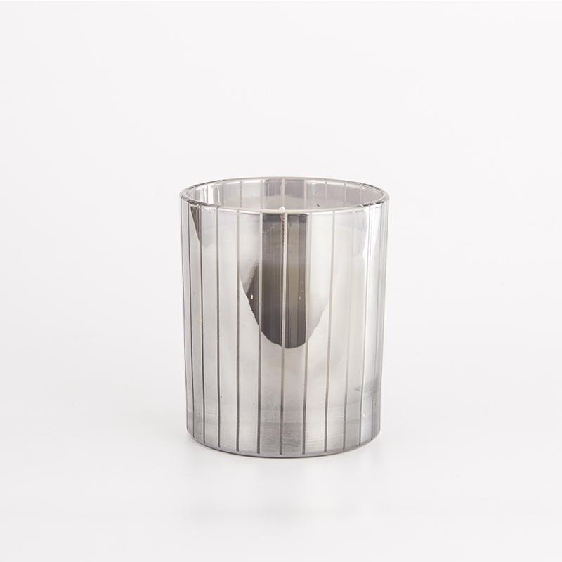 镭射银条纹杯