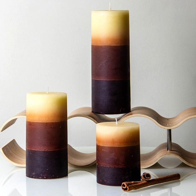 多色分层圆柱烛