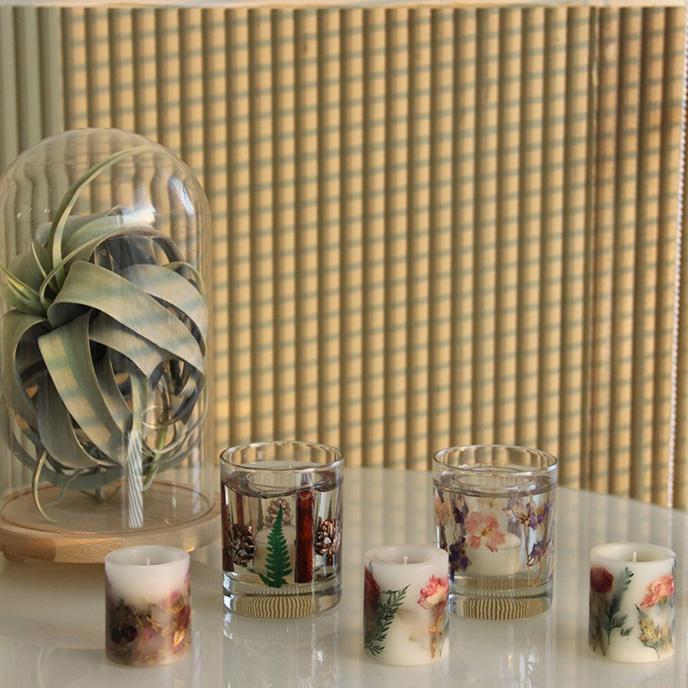 家用韩式手作干花无烟香薰蜡烛