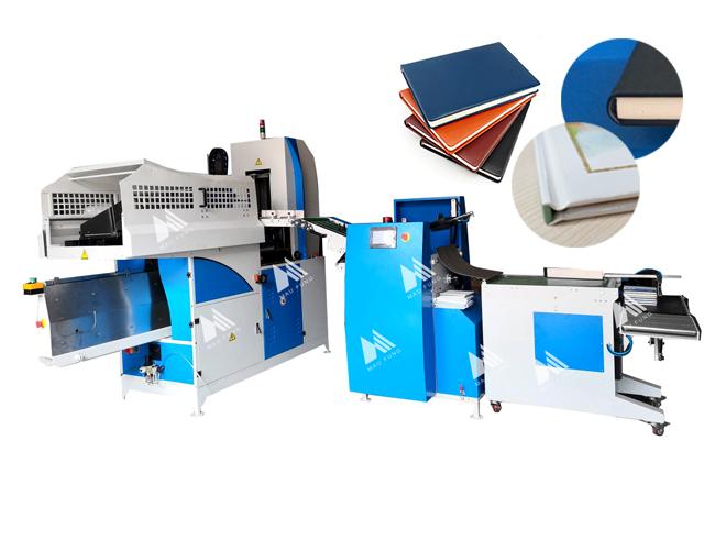 自動精裝書本上殼壓平壓槽聯動線 MF-FAC390