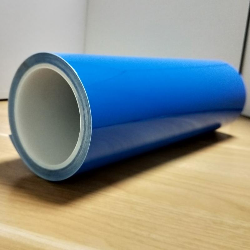 PVC藍色雙層卷狀保護膜,磨砂手機保護膜