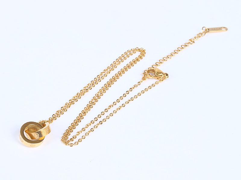 钛钢项链玫瑰金